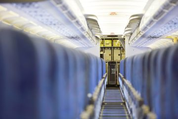 Cleanliness inside an airplane